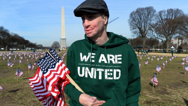 GTY iava kab 140327 16x9 608 Commemorating Suicides, Vets Plant 1,892 Flags on National Mall