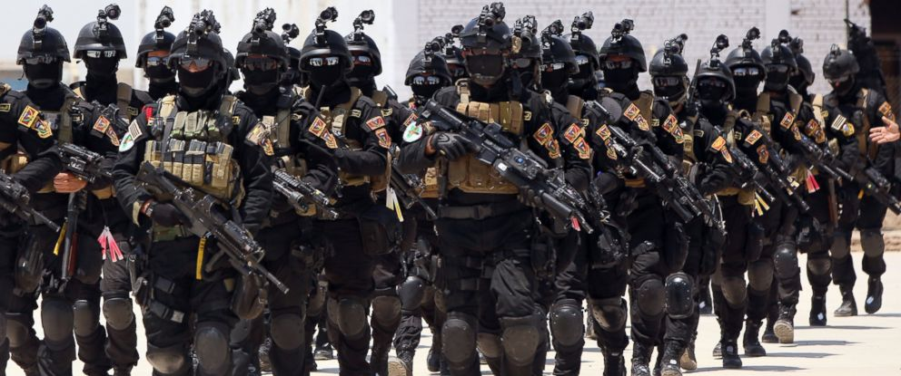 PHOTO:In this June 19, 2013 file photo, Iraqi special forces take part in a drill simulating a hostage rescue operation at an Iraqi army base North of Baghdad.