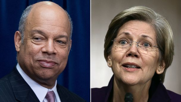 GTY jeh johnson elizabeth warren split sr 140425 16x9 608 Sunday: Homeland Security Sec Jeh Johnson, Sen. Elizabeth Warren