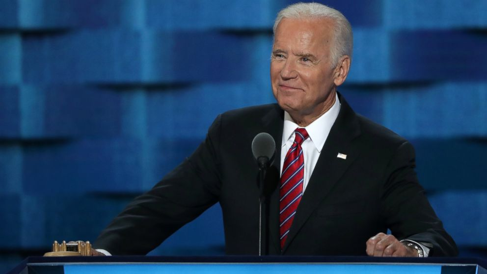 PHOTO: Vice President Joe Biden delivers remarks on the third day of the Democratic National Convention at the Wells Fargo Center, July 27, 2016, in Philadelphia.