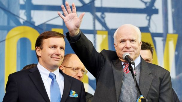 GTY john mccain ukraine sk)131219 16x9 608 John McCain Blames Obama for Emboldening Russian Bullying in Ukraine