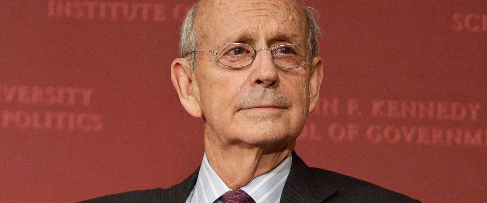 PHOTO: Supreme Court Justice Stephen Breyer speaks at the Harvard University Institute of Politics in Cambridge, Mass., Nov. 6, 2015.