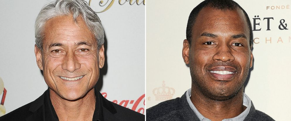 PHOTO: Greg Louganis, left, and Jason Collins attend separate events.