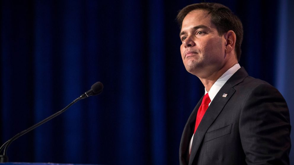 In this file photo, Senator Marco Rubio speaks at the 2013 Values Voter Summit, held by the Family Research Council, on Oct. 11, 2013 in Washington, D.C.