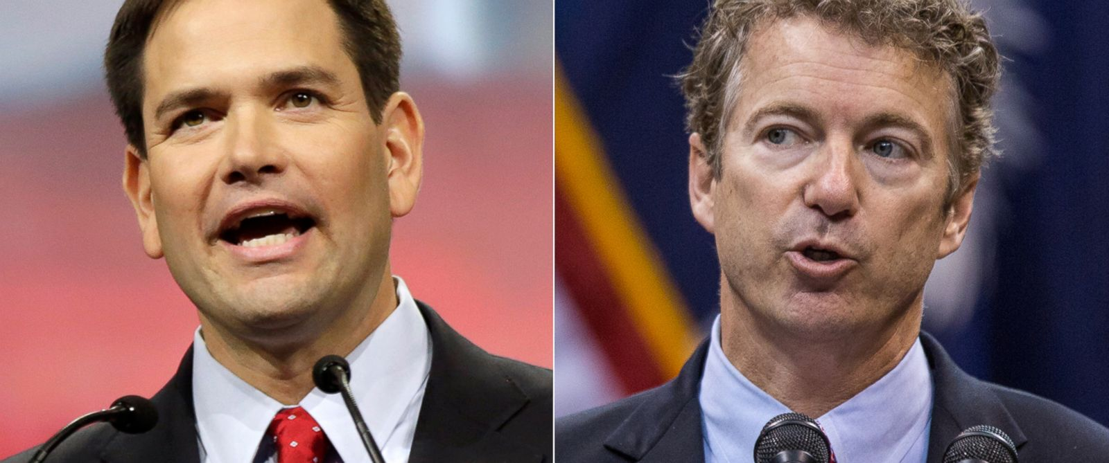 PHOTO: Florida Senator Marco Rubio in Indianapolis, April 25, 2014. | Kentucky Senator Rand Paul in Charleston, S.C., Nov. 12, 2013.