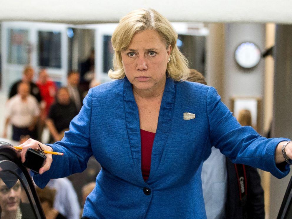 PHOTO: Sen. Mary Landrieu, D-La., walks to the Senate floor for a vote, May 13, 2014.