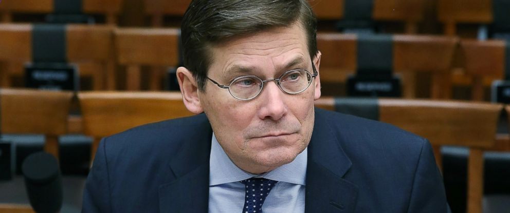 PHOTO: Michael Morell, former acting director of the CIA , prepares to testify to a House Armed Services Committee on Capitol Hill, Jan. 12, 2016 in Washington.