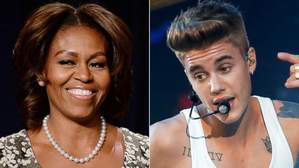 GTY michelle obama AP justin bieber split h jt 140208 v4x3 16x9 608 Michelle Obama Gets All Motherly About Justin Bieber