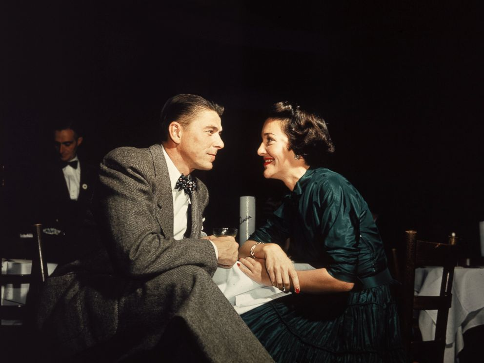 PHOTO:Ronald Reagan and Nancy Reagan gaze at one another across a table, circa 1952.