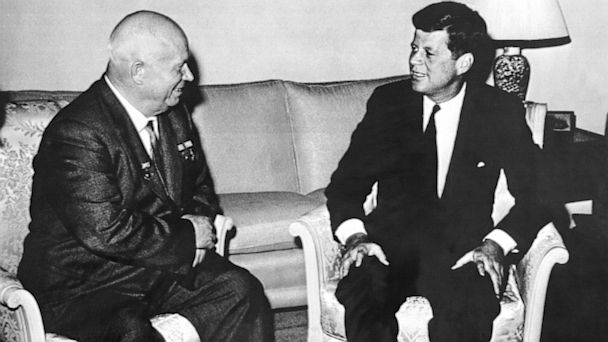 PHOTO: President Kennedy and Soviet Premier Nikita Khrushchev