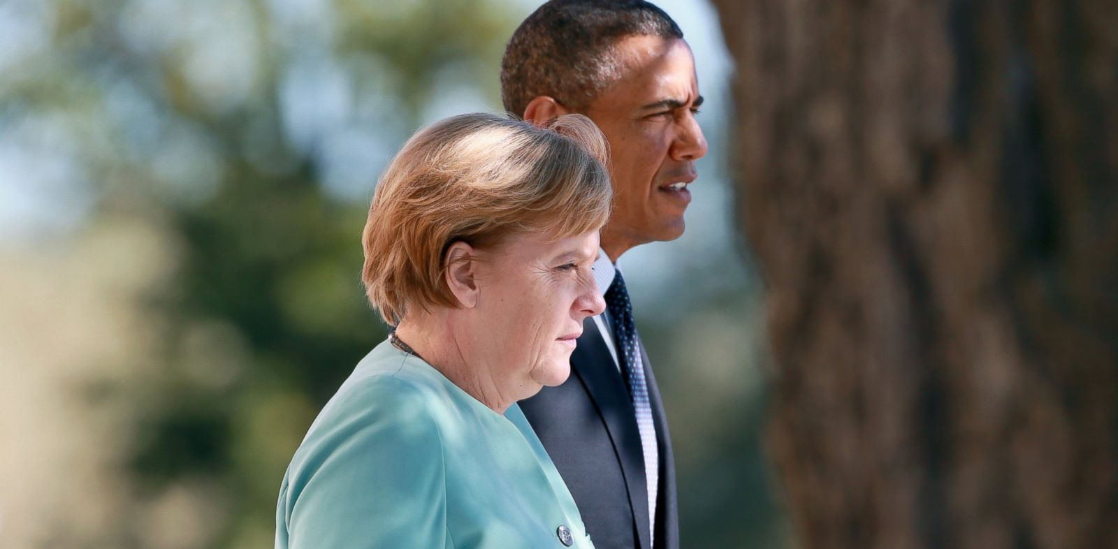 PHOTO: President Barack Obama and German Chancellor Angela Merkel arrive at the G20 summit, Sept. 6, 2013, in St. Petersburg, Russia.