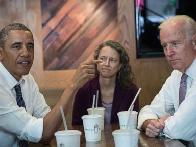 Obama and Biden Go to Shake Shack