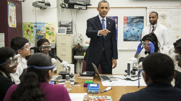 GTY obama bladensburg jtm 140407 16x9 608 Obama Unveils $100M in Grants to Make High School Less Boring, More Competitive
