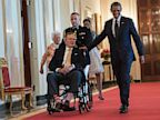 PHOTO: barbara bush, george h.w. bush, barack obama, president, michelle