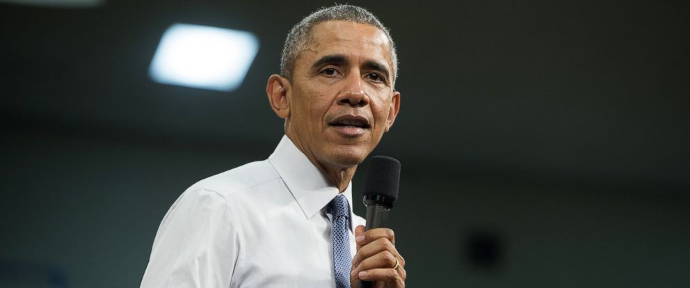 PHOTO: President Barack Obama speaks during a town hall event at Benedict College in Columbia, South Carolina, March 6, 2015.