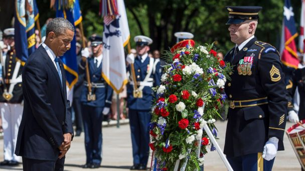 GTY obama memorial Day mar 140526 16x9 608 Obama Pays Respects at Arlington, Vows to Children of Fallen Vets, You Will Never Walk Alone