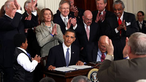 GTY obama signs affordable care act jef 130703 16x9 608 Obamacare Turns 4: The (Very) Long, Strange Trip to Now
