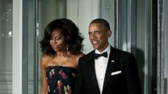 President Obama Escorts Michelle to the State Dinner