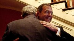 PHOTO: Maryland Governor Martin OMalley greets folks as they visit the Governors Mansion in Annapolis, Md. on Jan. 17, 2007.