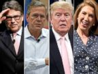 PHOTO: Rick Perry, Jeb Bush, Donald Trump and Carly Fiorina are running for president.