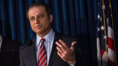 PHOTO: Preet Bharara, U.S. Attorney for the Southern District of New York, speaks at a press conference, May 19, 2014 in New York City.