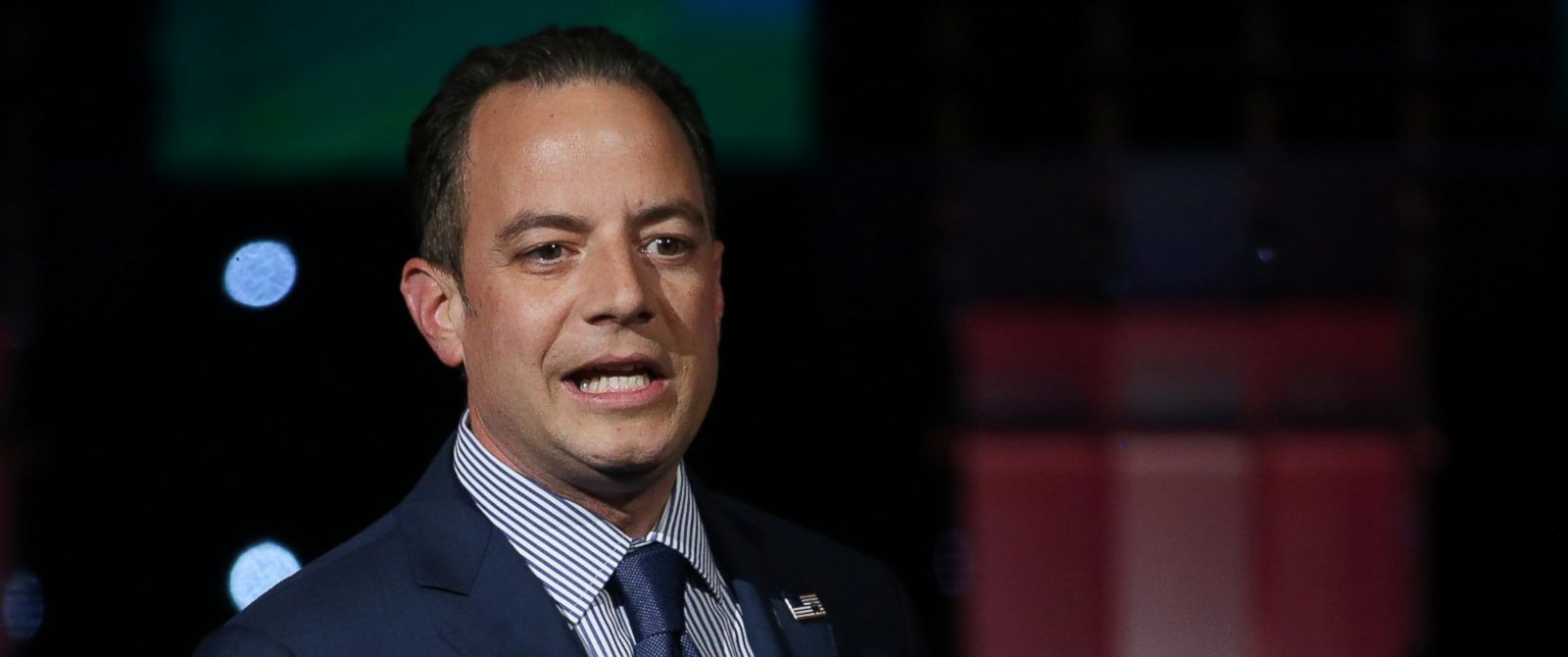 PHOTO: Chairman of the Republican National Committee Reince Priebus speaks before the main the CNN Republican presidential debate, Dec. 15, 2015 in Las Vegas.