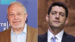 PHOTO: Robert Reich is seen on April 28, 2013 in New York City. | Rep. Paul Ryan, R-WI, is seen on March 6, 2014 in National Harbor, Md.