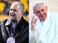 PHOTO: Rush Limbaugh criticized Pope Francis for ripping America.