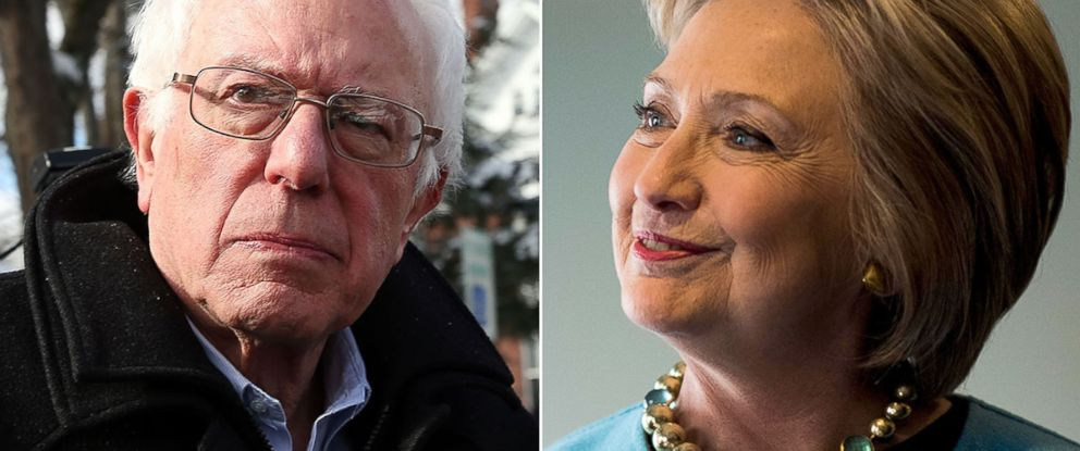 PHOTO: Bernie Sanders and Hillary Clinton are seeking the democratic nomination for president.