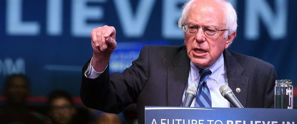 PHOTO:US Democratic presidential candidate Bernie Sanders speaks during a rally in Atlantic City, N.J, May 9, 2016.
