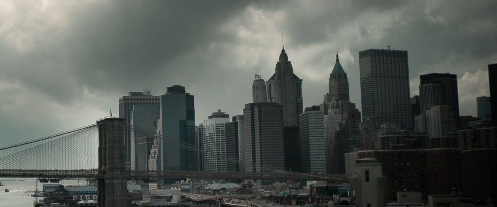 PHOTO: Clouds gather over lower Manhattan in this undated file photo.