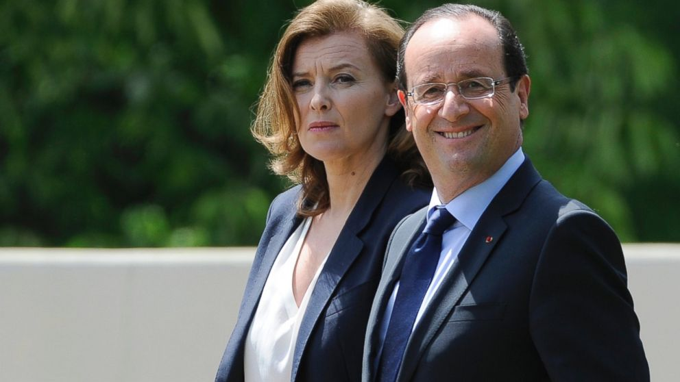 PHOTO: French President Francois Hollande and French First Lady Valerie Trierweiler