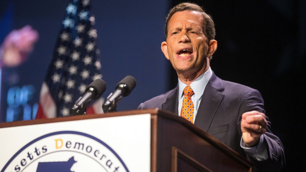 PHOTO: Treasurer Steve Grossman speaks during the 2013 Massachusetts Democratic Party Platform Convention held at the Tsongas Center at UMass Lowell.