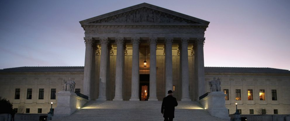 PHOTO: A general view of the U.S. Supreme Court, where a private memorial service was held for Justice Antonin Scalia, Feb. 19, 2016 in Washington.
