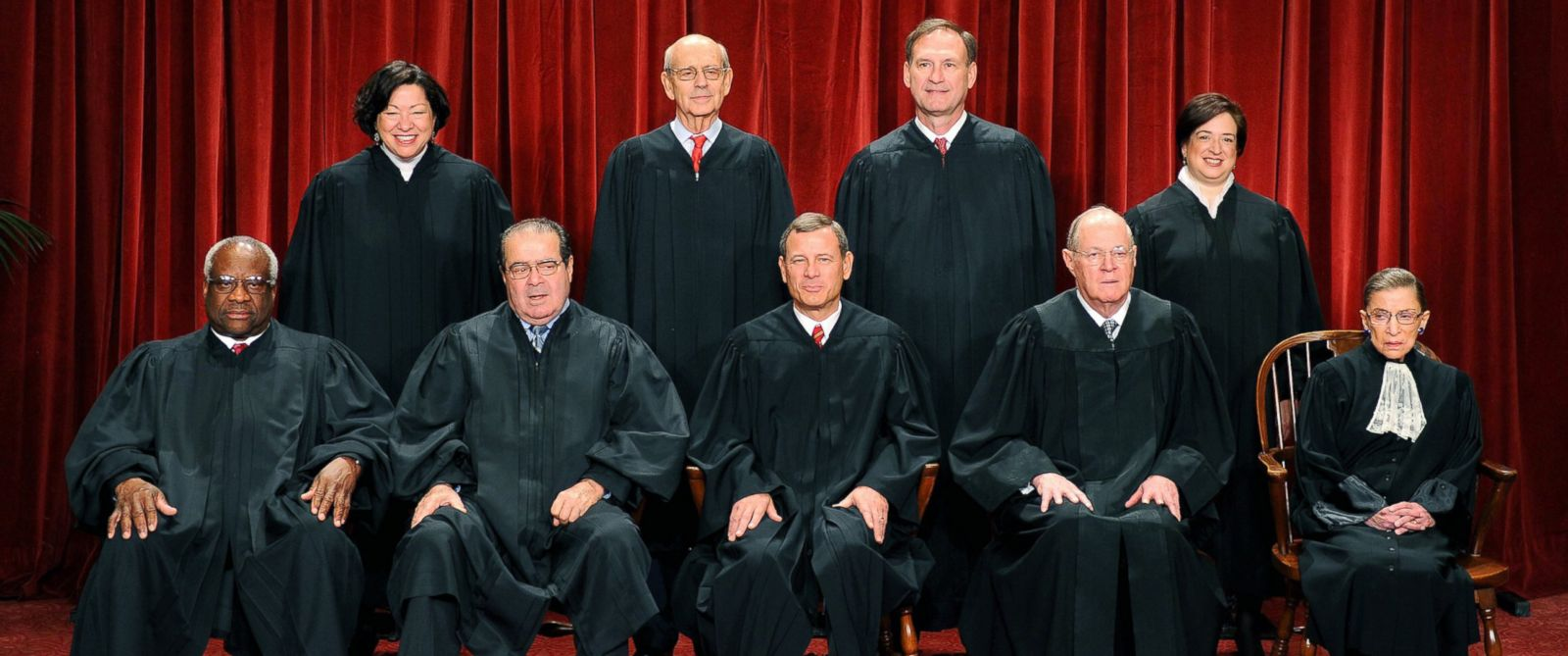 PHOTO: The Justices of the U.S. Supreme Court sit for their official photograph on Oct. 8, 2010 at the Supreme Court in Washington.