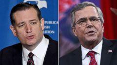 PHOTO: Sen. Ted Cruz | Former Florida governor Jeb Bush
