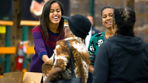 GTY thanksgiving sasha malia obama sk 131128 16x9 608 Veterans Pitch In to Help Serve, Overseas and at Home