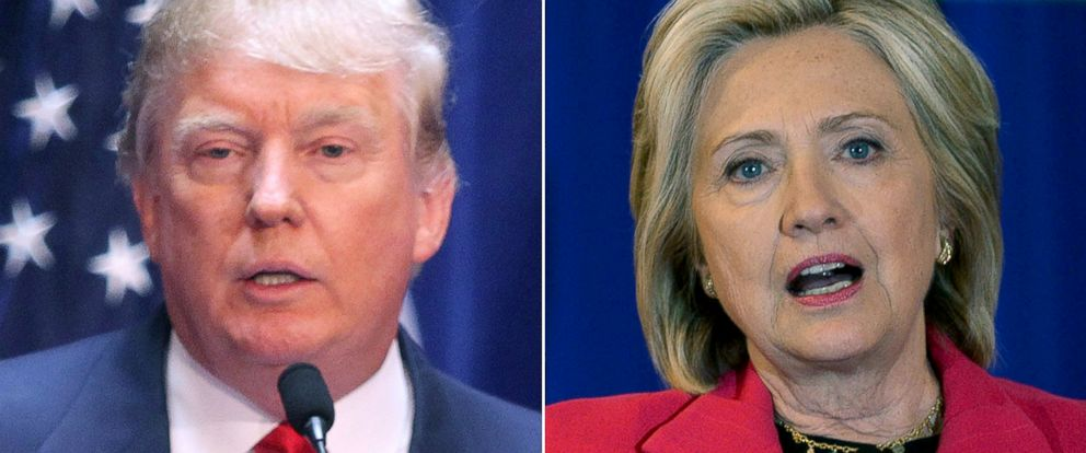 PHOTO: Donald Trump, left, and Hillary Clinton are both running for president in 2016.