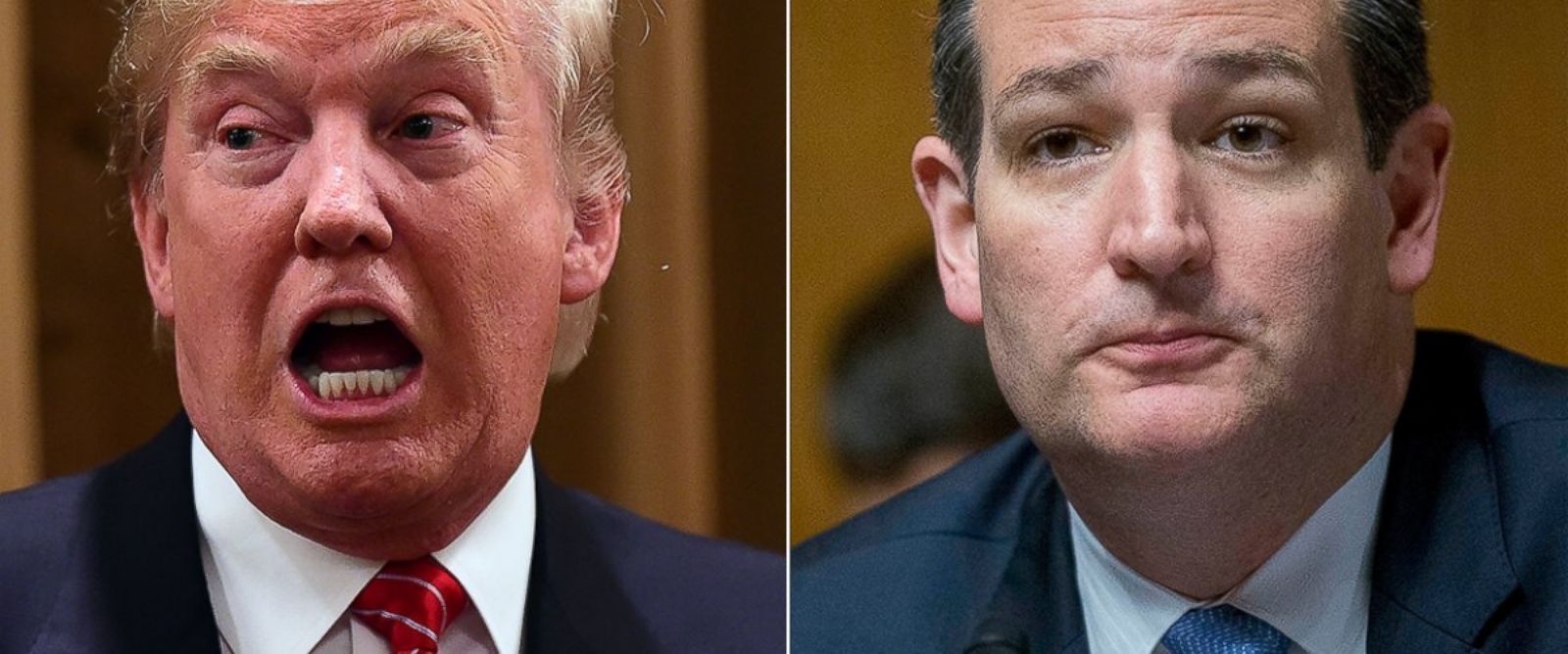 PHOTO: Donald Trump, left, is pictured on July 10, 2015 in Beverly Hills, Calif. Ted Cruz, right, is pictured in Washington, D.C. on June 4, 2015.