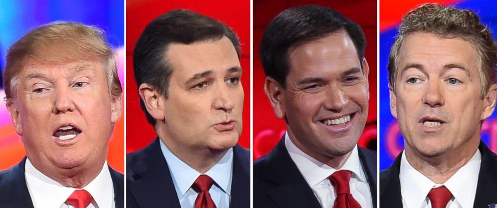PHOTO: Donald Trump, Sen. Ted Cruz, Sen. Marco Rubio and Sen. Rand Paul.