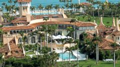 PHOTO: Aerial view of Mar-a-Lago, the oceanfront estate of billionaire Donald Trump in Palm Beach, Fla.