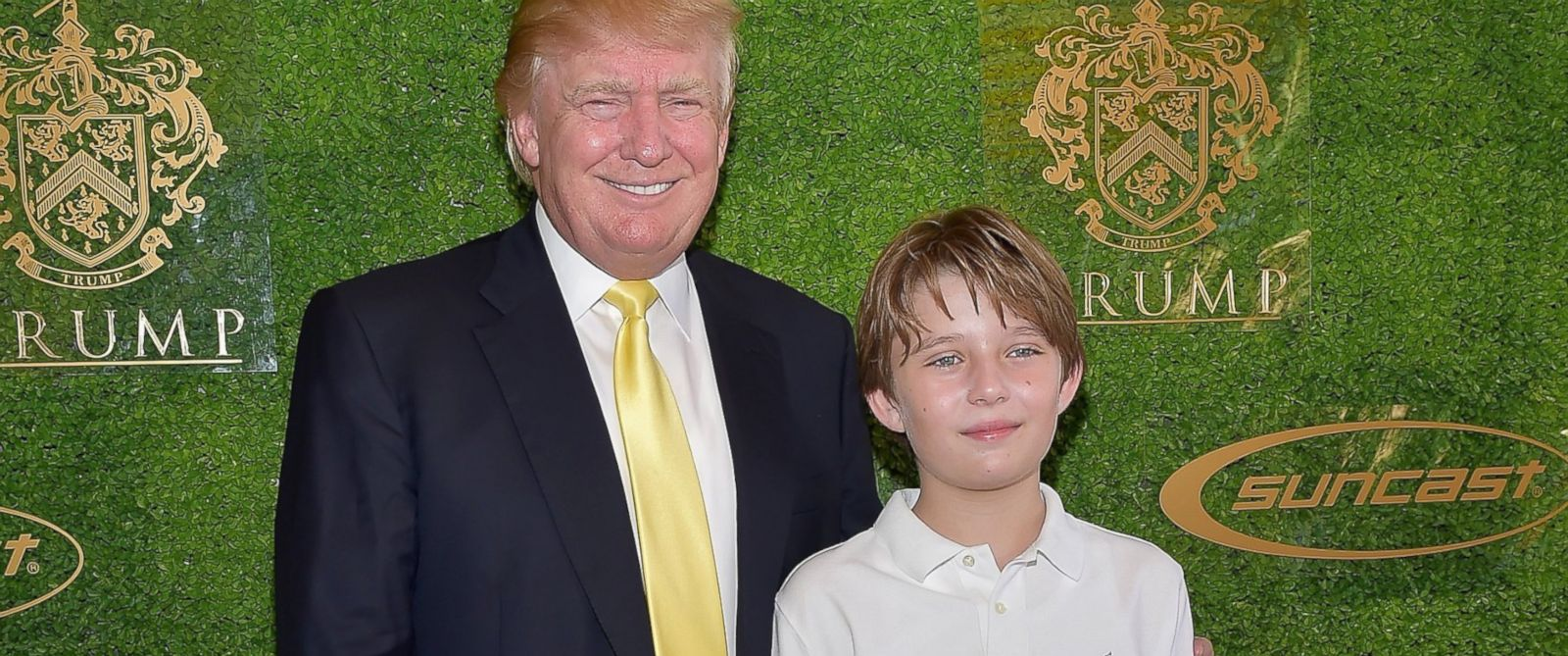 PHOTO:Donald Trump and Barron Trump attend Trump Invitational Grand Prix Mar-a-Lago Club at The Mar-a-Largo Club, Jan. 4, 2015, in Palm Beach, Fla.
