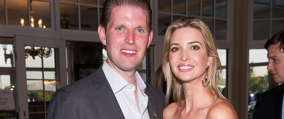 PHOTO:Eric and Ivanka Trump attend The Eric Trump 8th Annual Golf Tournament, Sept. 15, 2014, in Briarcliff Manor, New York.