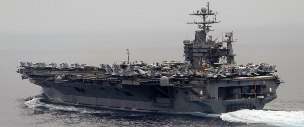 PHOTO: A general view shows the nuclear-powered US aircraft carrier USS Harry S. Truman at an undisclosed position in the Mediterranean Sea, south of Sicily, June 14, 2010.
