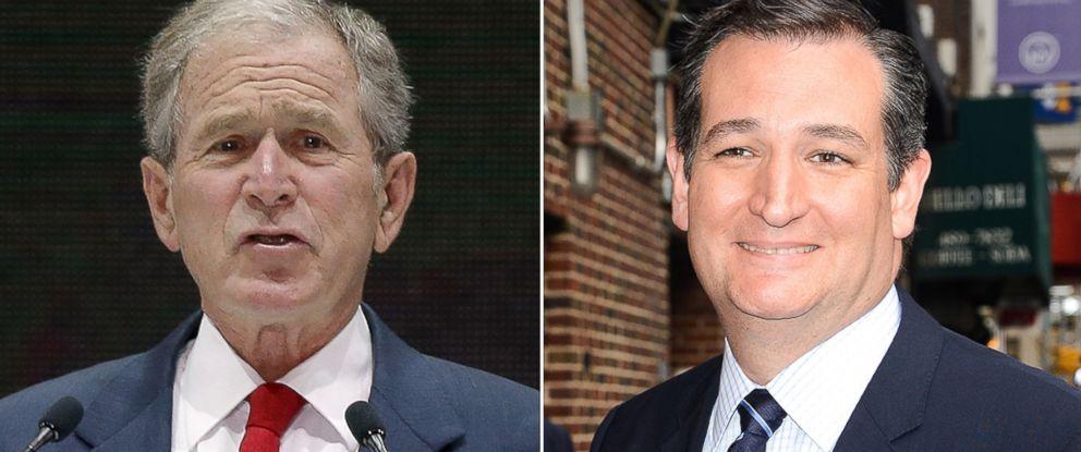 PHOTO: Former President George W. Bush, left, and Senator Ted Cruz.