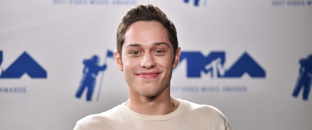 PHOTO: Pete Davidson poses in the press room during the 2017 MTV Video Music Awards at The Forum on August 27, 2017 in Inglewood, California.
