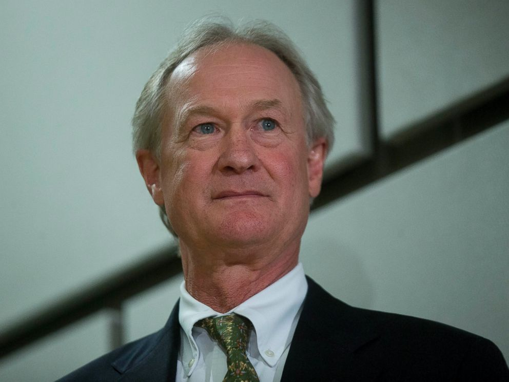 PHOTO: Lincoln Chafee is seen in this file photo, June 3, 2015, at the George Mason University School of Policy, Government, and International Affairs in Arlington, Va.