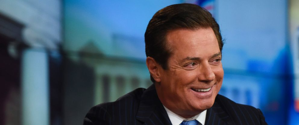 """PHOTO: Paul Manafort, Convention Manager for the Trump Campaign, appears on """"Meet the Press"""" in Washington, April 10, 2016."""
