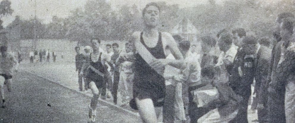 PHOTO: Bernie Sanders running track for James Madison High School in Brooklyn, New York in the 1950s.