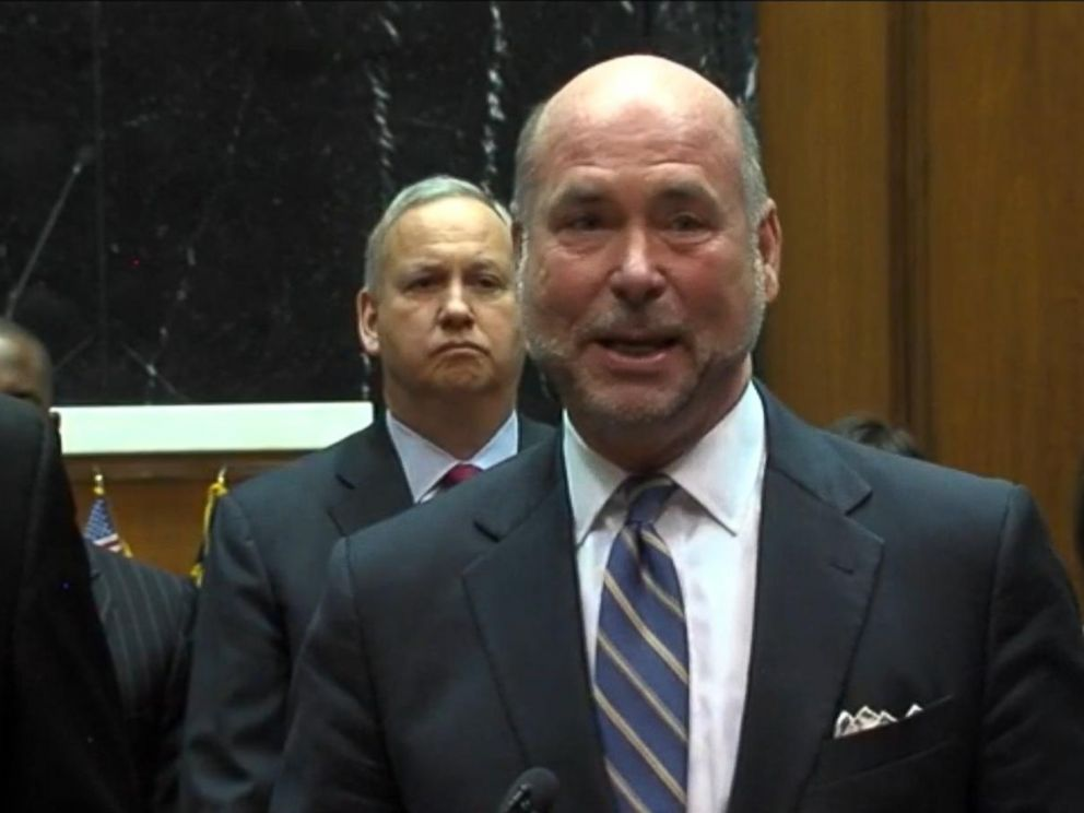 PHOTO:Indiana House Speaker Brian Bosma speaks as Indiana state legislators and business leaders announce proposed changes to a religious freedomlaw after it was criticized for possibly enabling discrimination.